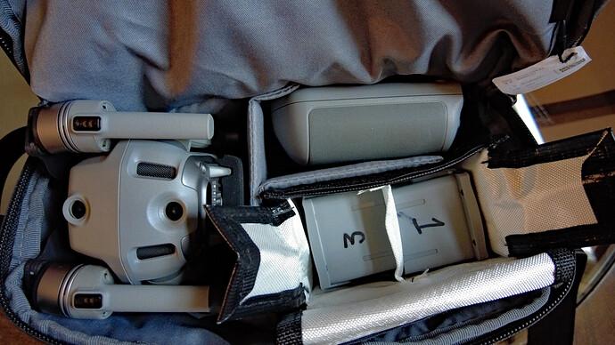 Li Po bag Mav Air 2 - open - small