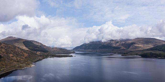 Loch Lomond to north pan