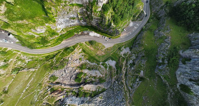Cheddar Gorge Staight down