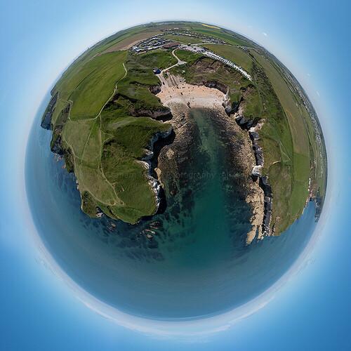 Thornwick Bay tiny planet