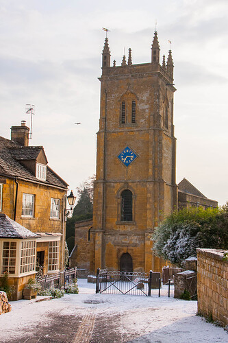 Blockley_Church_dressed_with_artifical_snow_during_the_filming_of_the_2016_Father_Brown_Christmas_Special
