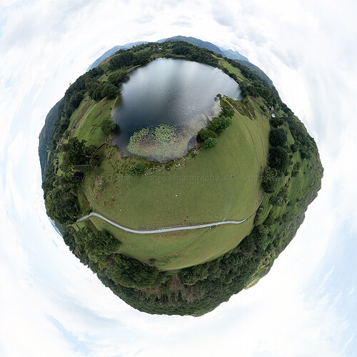 Blea Tarn tiny planet FB