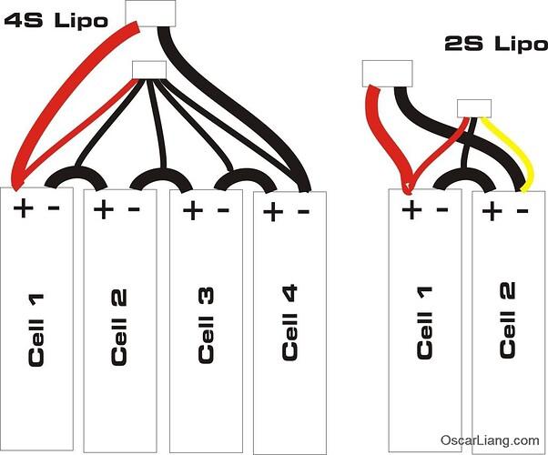 Lipo-cells-connection-anode-cathode-terminals