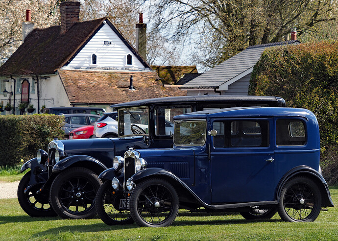 1929 Austin Heavy 12-4 Burnham Saloon + Austin 7 (sm)